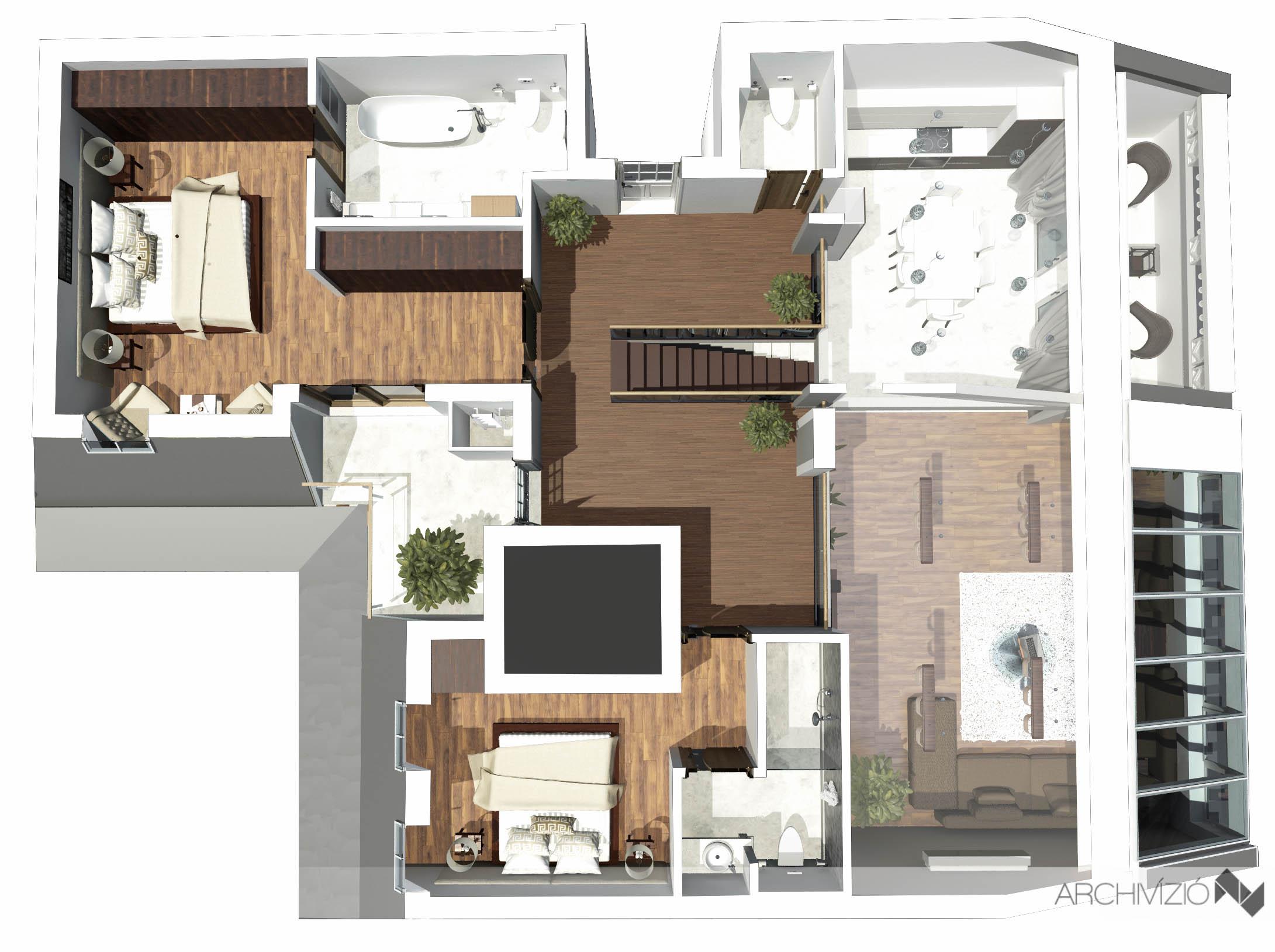 1. lakás - emelet