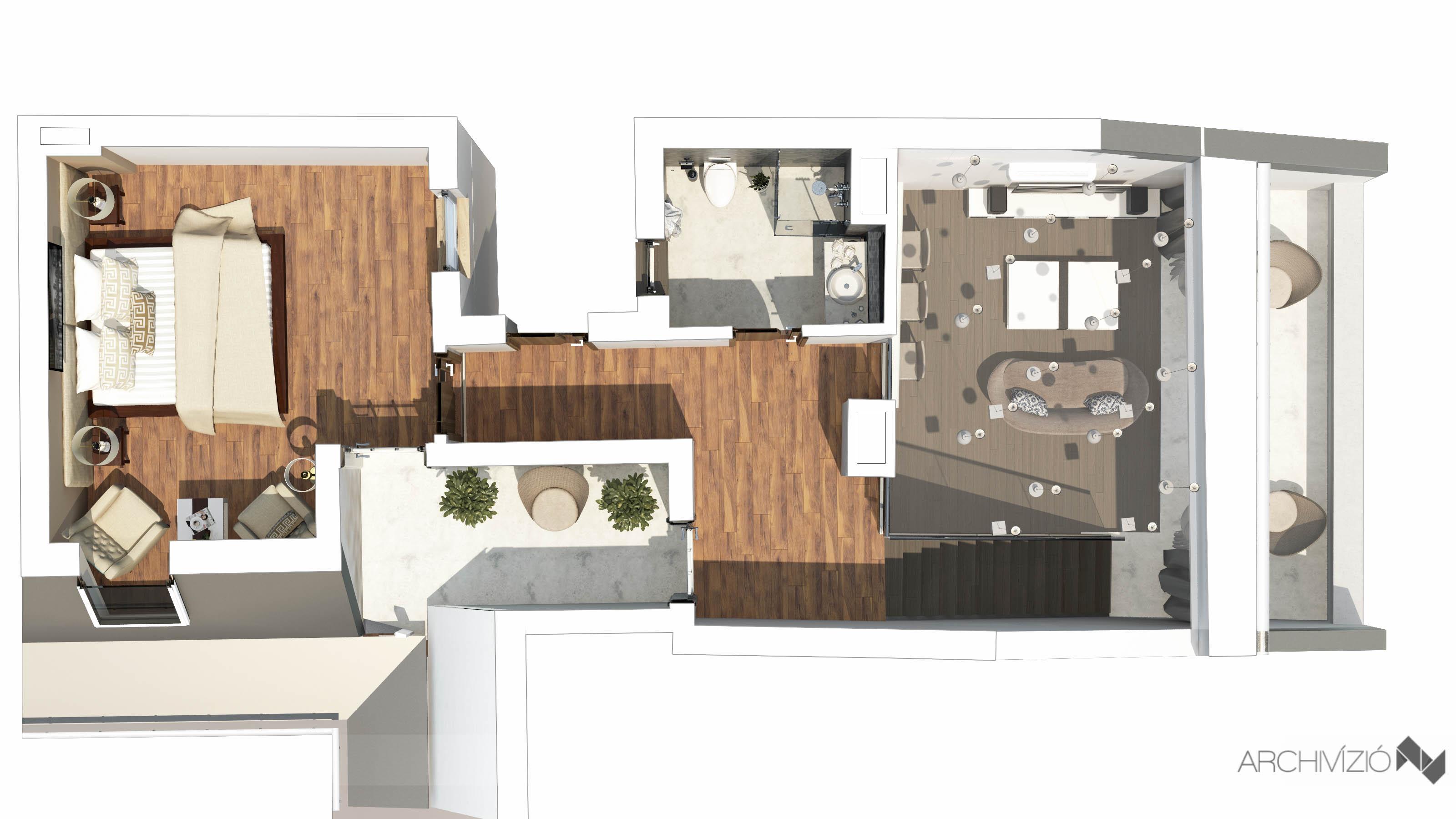 2. lakás - emelet