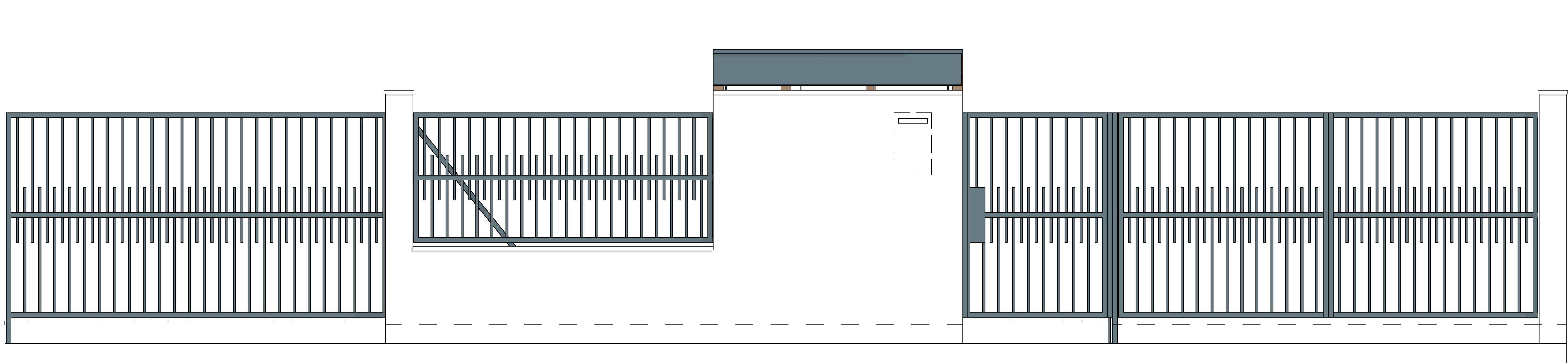 Kerítés utcafronti nézete